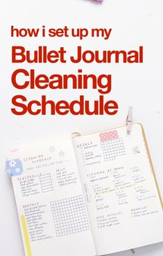 What is a bullet journal cleaning schedule and how do you make one?