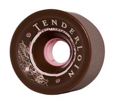 The 70mm side-set Tenderloin. This wheel comes with a stone ground finish providing a smooth slide right out of the box. The Tenderloin features an 80a Durometer and fits a 10mm spacer.