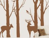 deer in the forest wall decal $149.99