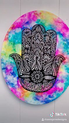 Hamsa Drawing, Hamsa Painting, Hamsa Art, Trippy Painting, Mandala Drawing, Dibujos Zentangle Art, Mandala Art Lesson, Alcohol Ink Art, Art Drawings Sketches