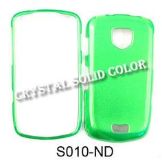 Unlimited Cellular Hard Snap On Cover Faceplate for Samsung I510 Droid/Charge Inspiration (Crystal Solid Green)