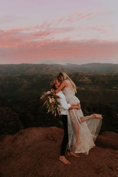As a destination wedding photographer, Kauai is one of my favorite locations for weddings and elopements! Sarah and Derik's Waimea Canyon Elopement made me fall in love with this island even more. Kauai Wedding, Elope Wedding, Elopement Wedding, Dream Wedding, Hawaii Elopement, Elopement Dress, Waimea Canyon, Hawaii Destinations, Elopement Inspiration