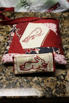 I love red work, embroidery work is relaxing