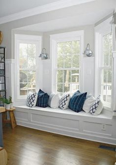 DIY kitchen renovation update (nine months later) Create a window seat in bay window, would be nice to read there!Create a window seat in bay window, would be nice to read there! Home Renovation, Home Remodeling, Kitchen Remodeling, Home Decor Bedroom, Living Room Decor, Living Area, Bedroom Furniture, Diy Bedroom, Trendy Bedroom