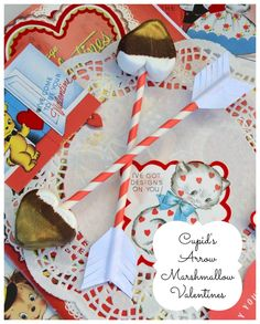*Rook No. 17: recipes, crafts & whimsies for spreading joy*: Chocolate-dipped Marshmallow Cupid's Arrows 14 Days of Crafting Love