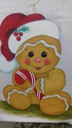 Christmas Yard Art, Christmas Rock, Christmas Drawing, Christmas Paintings, Christmas Projects, Gingerbread Decorations, Gingerbread Ornaments, Christmas Gingerbread, Felt Ornaments