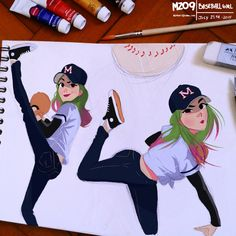 Baseball Girl by MZ09.deviantart.com on @DeviantArt