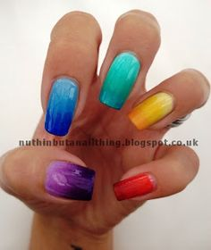 nuthin but a nail thing: Gradient Nails - Tutorial and Tips