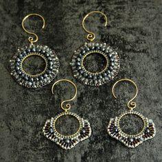 Jewelry making basics two earring designs using circular brick stitch Jewelry Making Beads, Clay Jewelry, Beaded Jewelry, Silver Jewelry, Fabric Jewelry, Jewellery, Stone Jewelry, Handmade Jewelry, How To Make Earrings