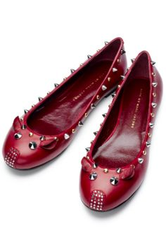 marc jacobs studded mouse flats