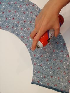 The Shabby: How to Cover a Lamp Shade with Fabric   Nautical Nursery Series