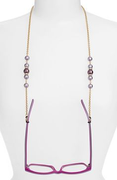"Free shipping and returns on L. Erickson 'Cadabra' Swarovski Crystal Eyeglass Chain at Nordstrom.com. Sparkling Swarovski crystals and pearly beads accent a glamorous goldtone chain that keeps your reading or sunglasses close at hand. Ready for gifting, they come packaged in a charming box that reads: ""You're beautiful""."