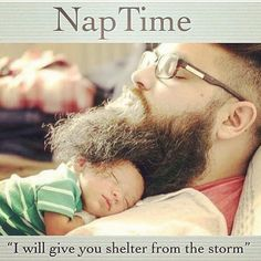 Nap Time ''I'll give you shelter from the storm'' From beardoholic.com