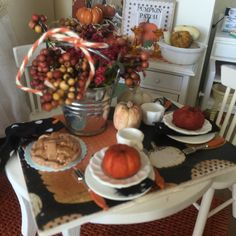 A personal favorite from my Etsy shop https://www.etsy.com/listing/246343027/fall-pumpkin-table-setting-board