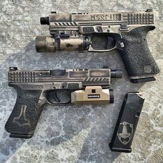 Machining by Laser engraving by Cerakote by Michael Sigouin Concept, design and frame work by myself, Weapons Guns, Guns And Ammo, Airsoft Guns, Custom Glock, Custom Guns, Rifles, Cool Guns, Tactical Gear, Tactical Survival