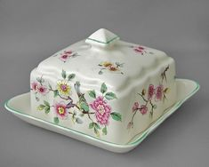James Kent Old Foley vintage butter dish & lid Chinese Rose 1950-80s £18 ono FREE post UK/OVERSEAS reduced shipping