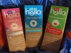 My kids absolutely love these all natural Hello Kids Toothpastes! They come in yummy flavors like Buble Gum, Blue Raspberry, and Watermelon and contain no artificial sweeteners, dyes, sls, or microbeads. Plus, they even make a fluoride free version for younger kids! A must have in this Mommy's book!    #ChooseFriendly #Gotitfree *Want free products like these? Sign up for Smiley360!>>> http://h5.sml360.com/-/1ssao