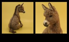 flocked plastic donkey by Paizley Pawz