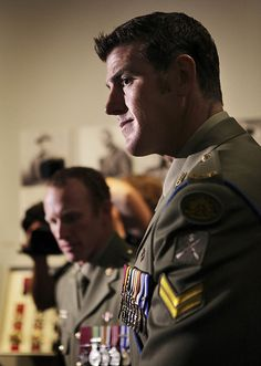 Corporal Ben Robert-Smith VC MG and Corporal Mark Donaldson Victoria Cross recipients in the Hall of Valour - Canberra, Australia