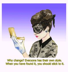 """""""Why change? Everyone has their own style. When you have found it, you should stick to it."""" www.thecoveteur.com/audrey-hepburn-memorial"""