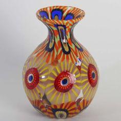Vase signiert aus Murano Glas Murrine collectable Eli Vetri d Arte FORMENTELLO