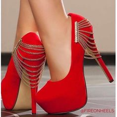 Trendy Womens High Heels : Hot or Not? Red High Heels, High Heels Stilettos, High Heel Boots, Womens High Heels, Shoe Boots, Women's Shoes, Shoe Refashion, Fancy Shoes, Types Of Shoes