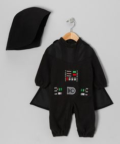 Take a look at this Star Wars Black Darth Vader Romper Set - Infant & Toddler on zulily today!