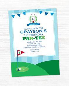 Golf Invitation Golf Party Golf Sport Birthday by maydetails