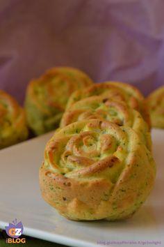 Rosette di pasta lievitata con zucchine, muffin salati alle verdure - Ricetta lievitato salato