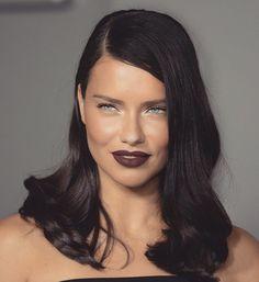 @adrianalima// stunner with dark lips.