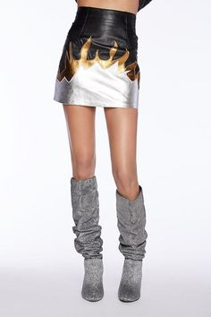 After Party Vintage New Flame Skirt - Metallic