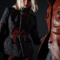 The fitted Padded Hip Tweed Jacket gives a feminine hourglass shape. #TOMFORD