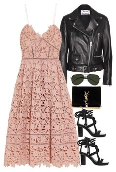 A fashion look from April 2016 featuring self-portrait dresses, Acne Studios jackets and Isabel Marant sandals. Browse and shop related looks. Casual Chique, Casual Elegance, Fashion Design, Fashion Trends, Fashion Hacks, Color Fashion, Diy Fashion, Indian Fashion, Korean Fashion