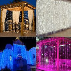 1800-LED-Fairy-Curtain-String-light-for-Xmas-Christmas-Wedding-Party-Connectable