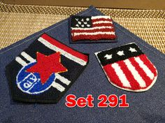 Retro Vintage Embroidery Patches Towel Patches Sew on