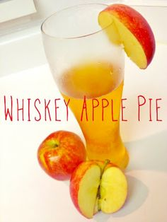 Whiskey Apple Pie Cocktail - Adults Only  Apple Orchard Beer & Fireball Whiskey, tastes like #applepie #cocktail #beer