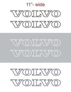 "2pcs 11""wide VOLVO Contour Vinyl Sticker Decal Graphic for SEMI TRUCK #Oracal"