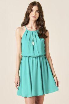 Caden Solid A-Line Dress $44.00