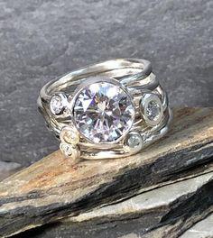 I Love Jewelry, Jewelry Rings, Silver Jewelry, Jewelry Accessories, Jewelry Design, Silver Rings, Jewellery, Rock Rings, Stone Rings