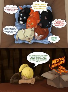 MEOW by Mouseleaf on deviantART (Wally won't shut up, will he? OF COURSE NOT! XD)