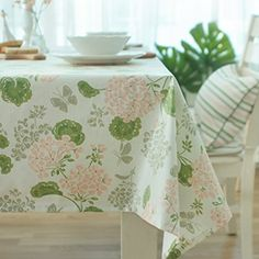 European Minimalist Linen Tablecloth,Water Proof, Anti Oil Table Cloth  ,Rectangular