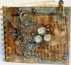 Scraps of Elegance: Steampunk-Gone-Glam. Love This Album. Art Journal Pages, Journal Covers, Art Journals, Art Steampunk, Steampunk Crafts, Art Altéré, Steampunk Accessoires, Art Journal Tutorial, Images Vintage