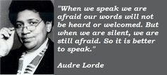 Audre Lorde on speaking out #feminism