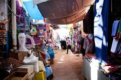 In the #souk, you can soak up souvenirs of the spices, carpets, jewellry. #Agadir - #Marocco © Alexis Bidegain
