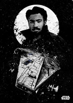 """Official Star Wars Pilots Lando Calrissian #Displate artwork by artist """"Star Wars"""". Part of a 21-piece set featuring designs of some of the pilots from the popular #StarWars film franchise. £35 / $50 (Medium), £71 / $100 (Large), £118 / $166 (XL) #ThePhantomMenace #AttackOfTheClones #RevengeOfTheSith #ANewHope #TheEmpireStrikesBack #ReturnOfTheJedi #TheForceAwakens #TheLastJedi #RogueOne #Jedi #DeathStar #HanSolo #Chewbacca #C3PO #R2D2 #BobaFett #DarthVader #Solo"""