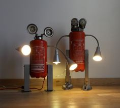 IKEA KVART robot lamps. Too cute!