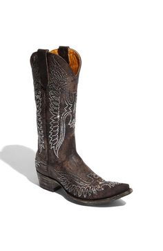 saw these in person at Nordstrom several months ago. the most sparkly, beautiful swarovsky-crystallized Old Gringo cowgirl boots you've ever SEEN. Cowgirl Boots, Western Boots, Bootie Boots, Shoe Boots, Old Gringo Boots, My Horse, Mid Calf Boots, A Boutique, Leather Boots
