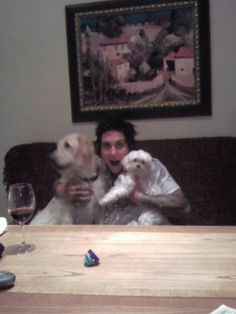 Syn, Pinkly and another dog....