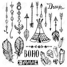 bohemian indian style graphics
