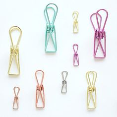 5pcs/lot Creative Metal Color Small Clips Long Tail Clips Paper Document Classification Tool Office And School Supplies